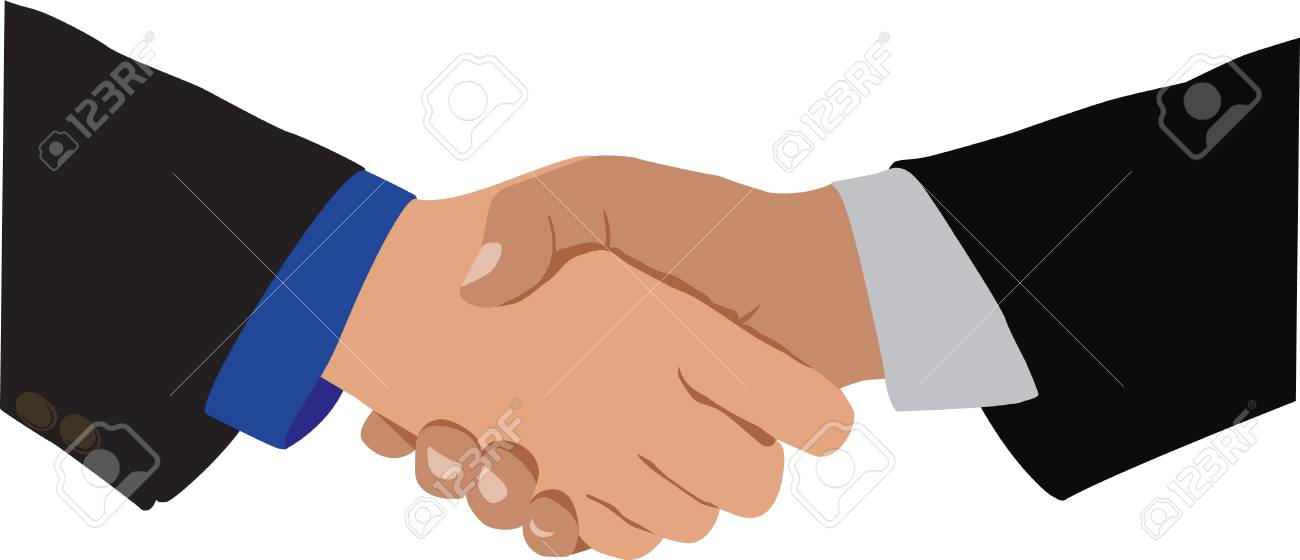 Handshake, the idea of agreement and cooperation Stock Vector - 6352546