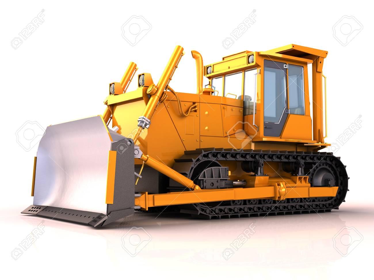 Bulldozer isolated Stock Photo - 15805551