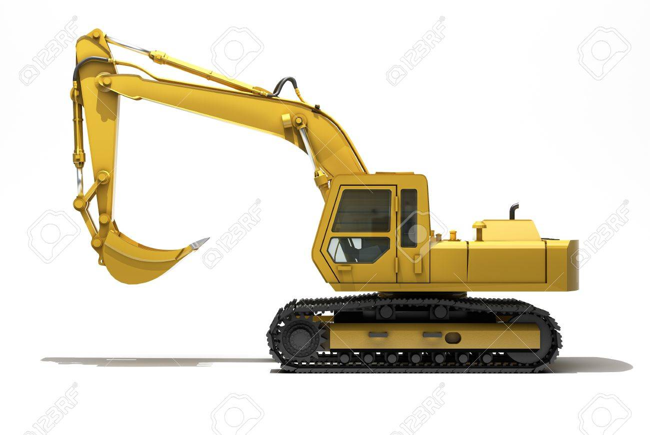 Excavator isolated Stock Photo - 17010172
