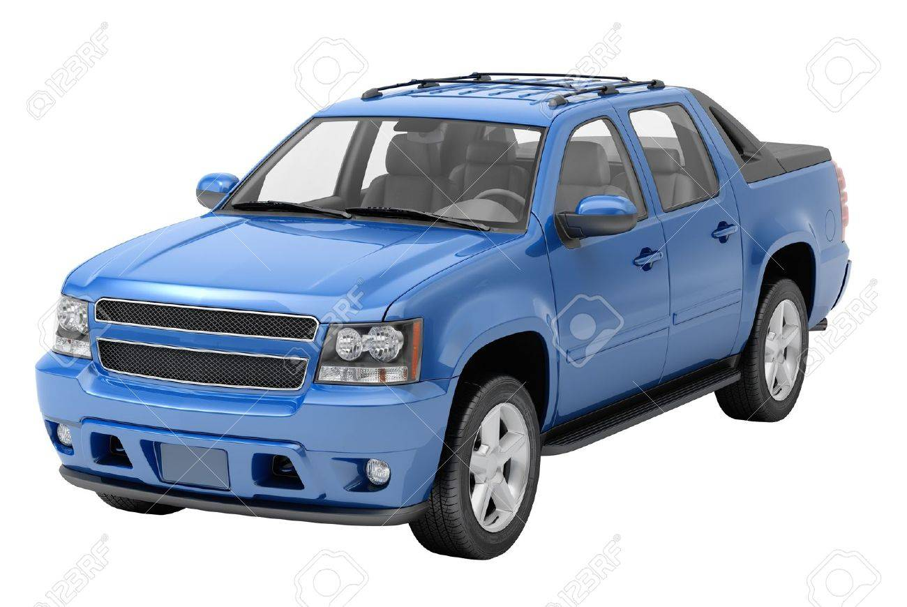 Blue pickup on a light background with shadow - 20537113