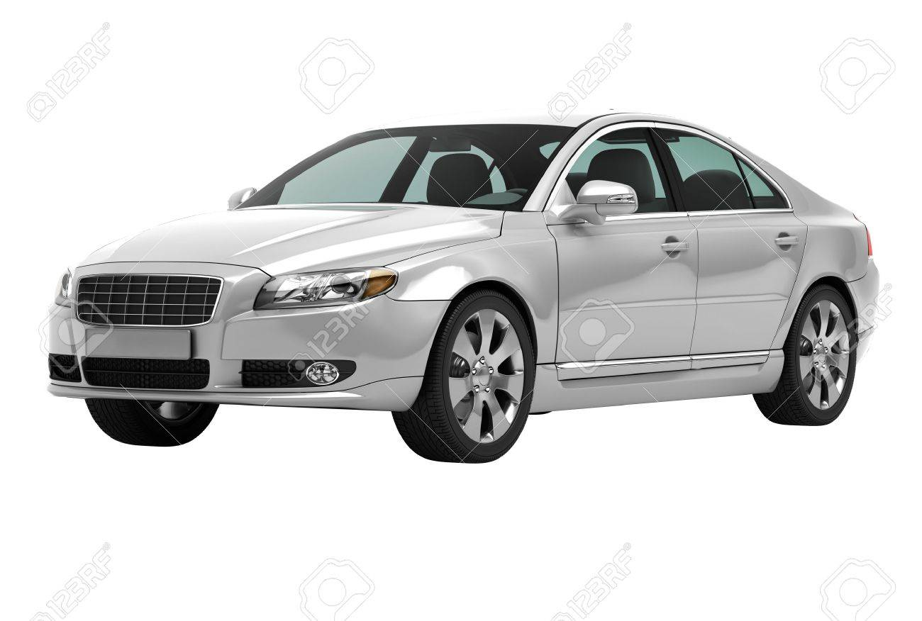 A contemporary luxury car isolated on a white background - 20537174