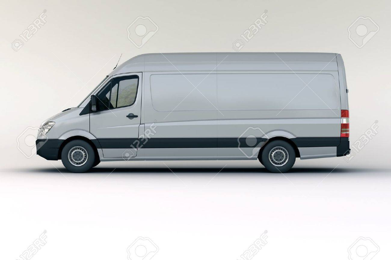 Commercial vehicle in the studio on a light background - 20561083