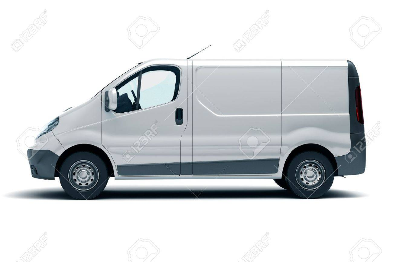 Commercial vehicle in the studio on a light background - 20561043