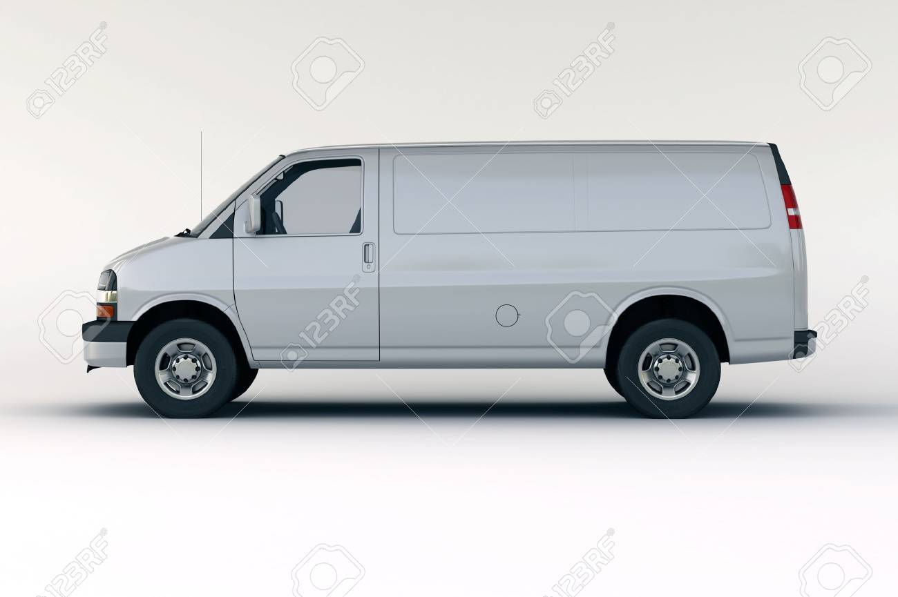 Commercial vehicle in the studio on a light background - 20561104