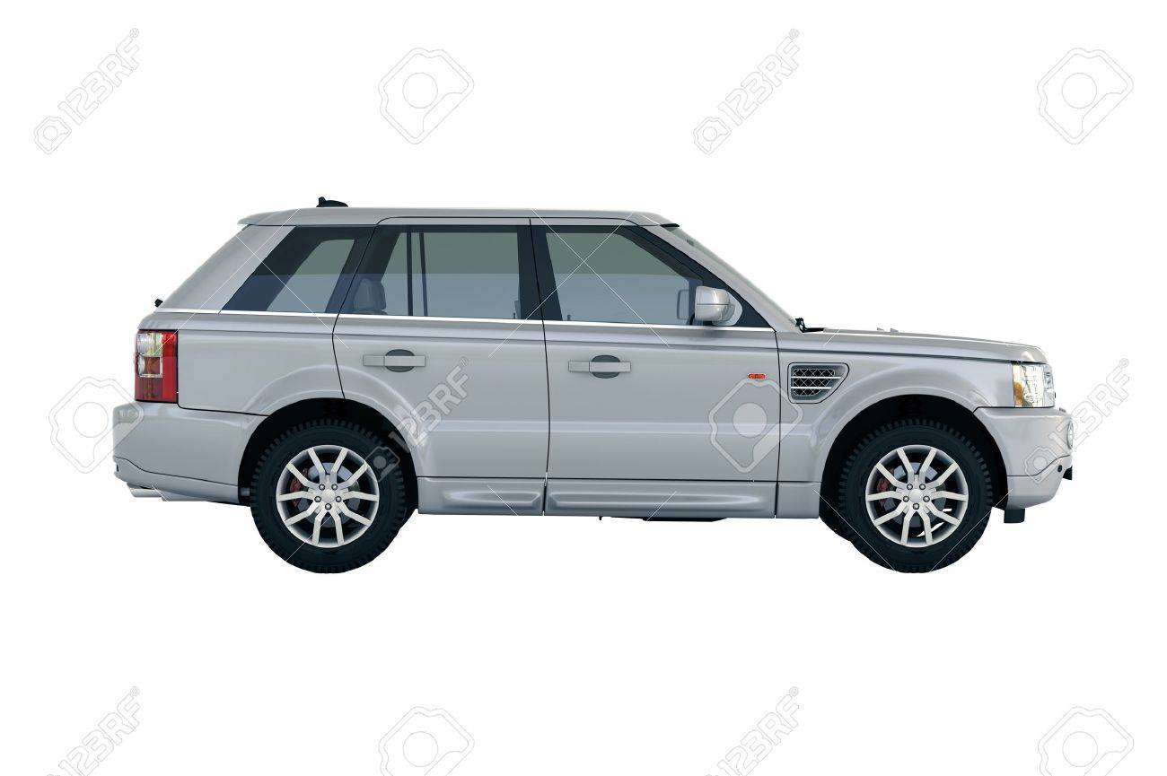 Luxury car in the studio on a light background - 20560745