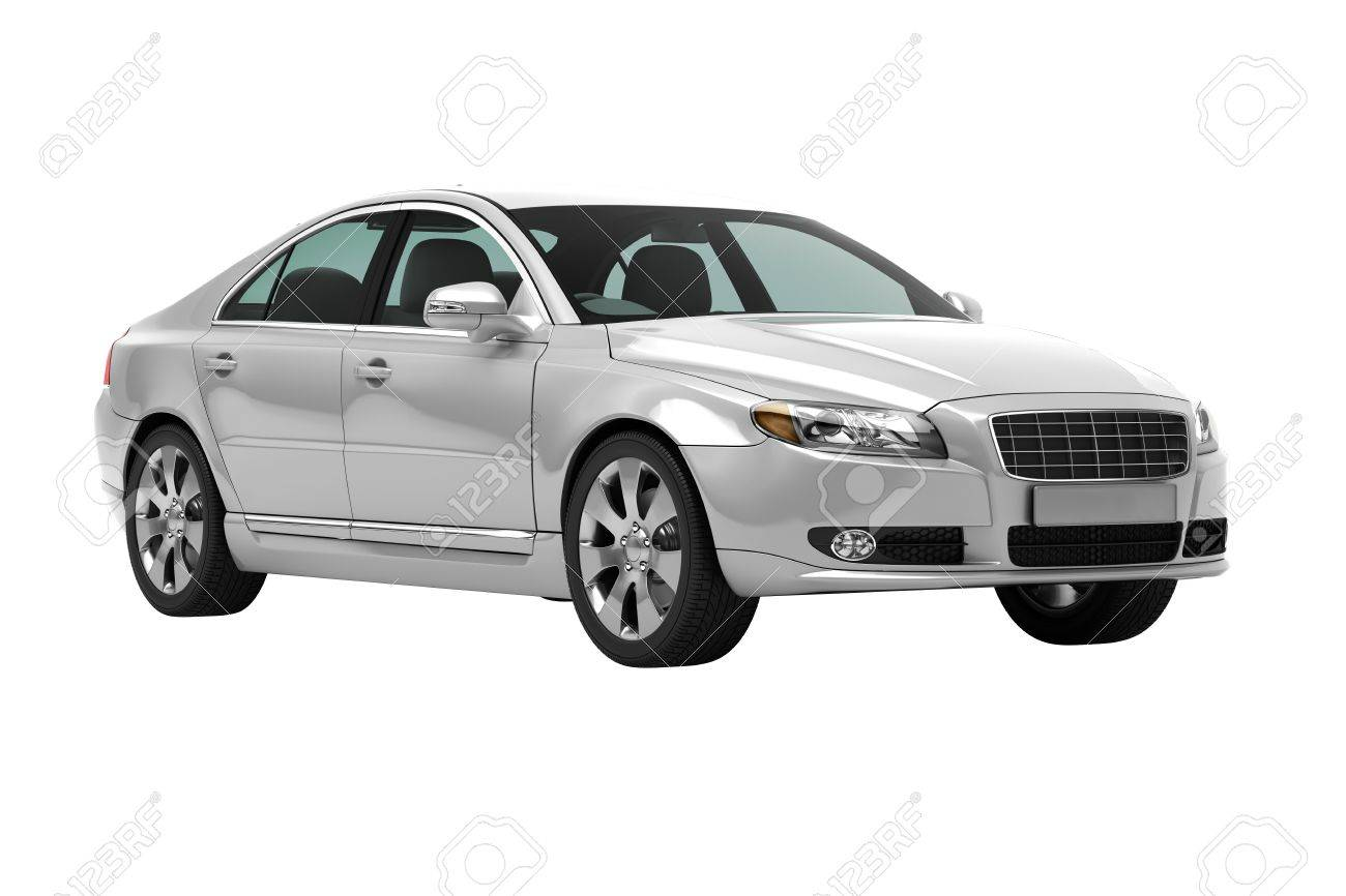 Luxury car in the studio on a light background - 20561152