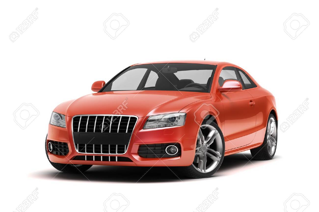 Luxury car in the studio on a light background - 20560977