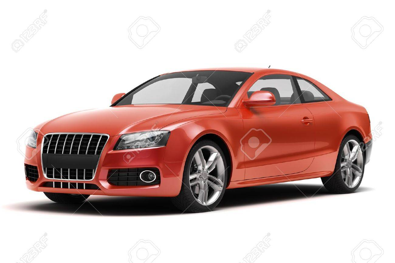 Luxury car in the studio on a light background - 20561055