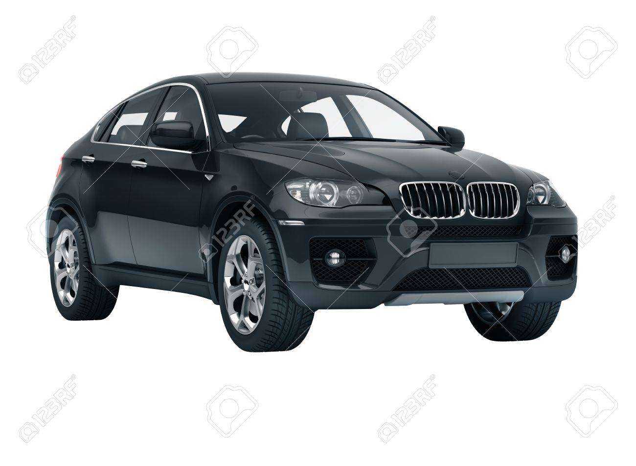 Luxury car in the studio on a light background - 20561234