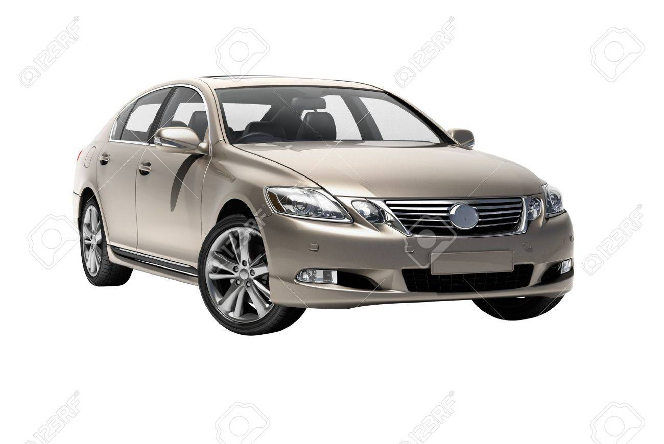 Luxury car in the studio on a light background - 20561087