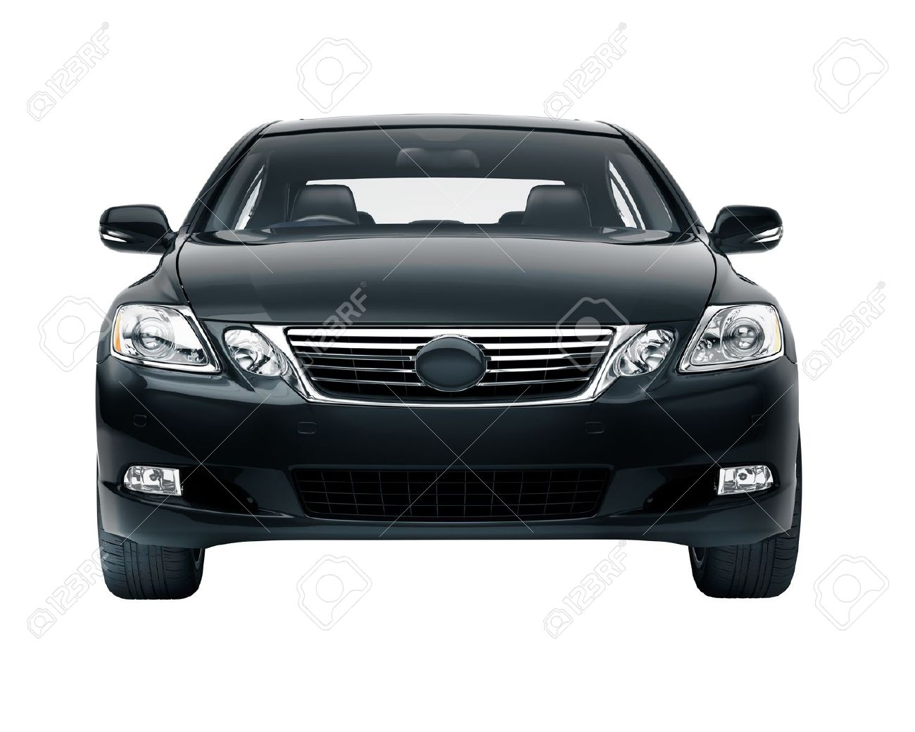 Luxury Car In The Studio On A Light Background Stock Photo Picture