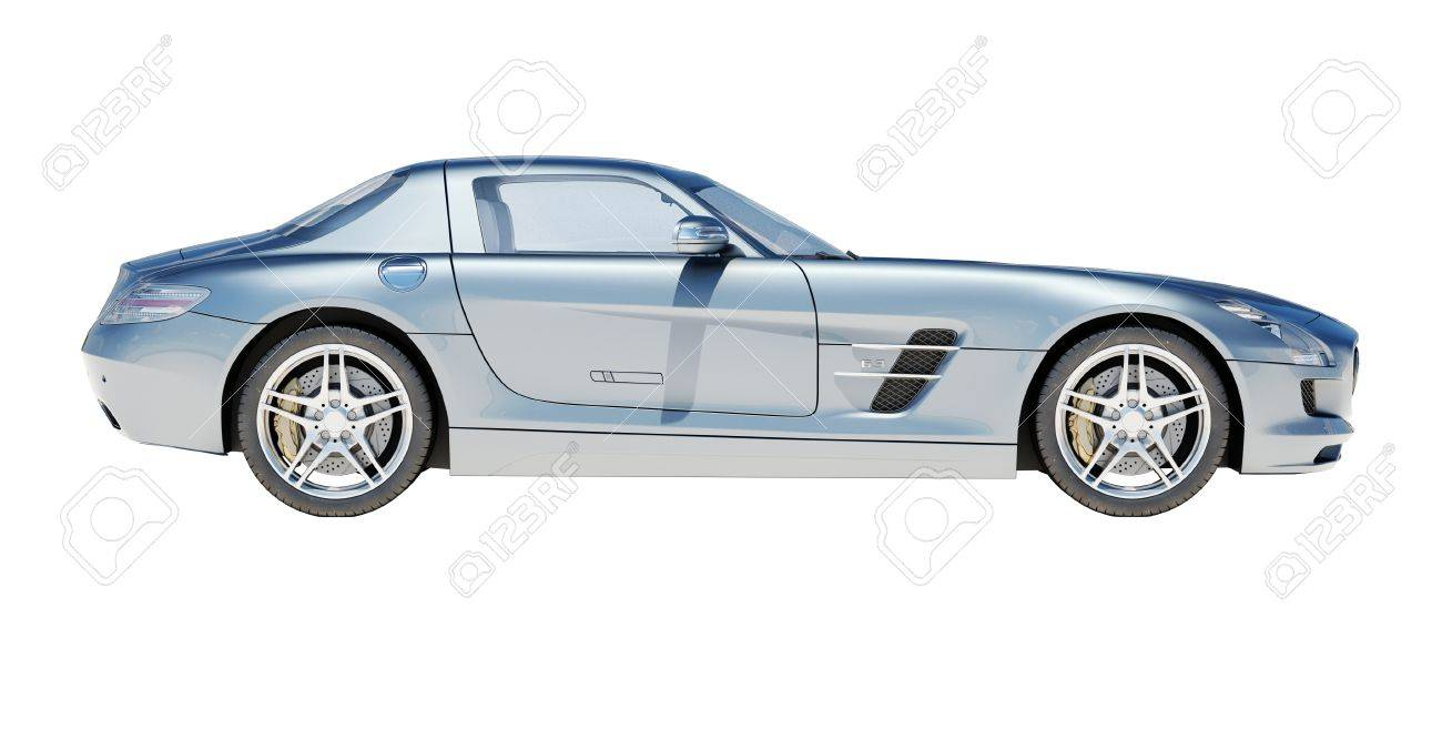 Sport supercar isolated on a light background, the bright sunlight - 20880461