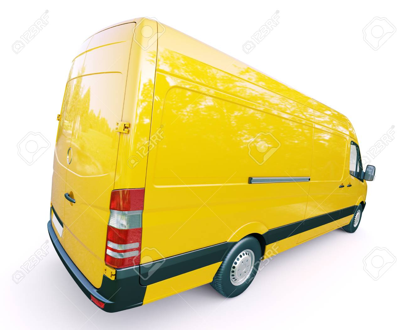 Modern commercial van on a light background Stock Photo - 21753051