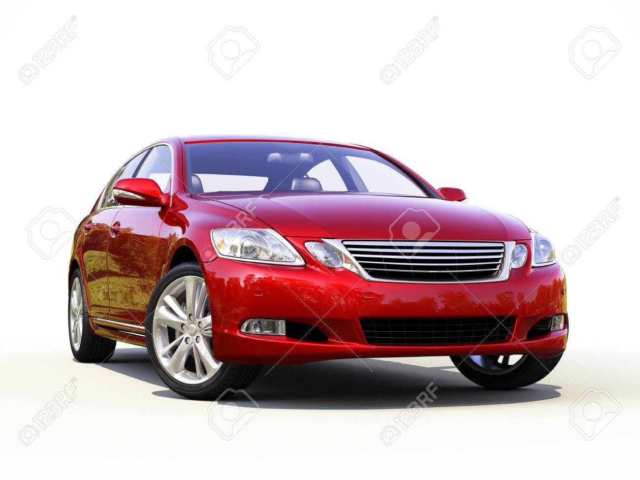 Modern car on a light background with a shadow - 22488409