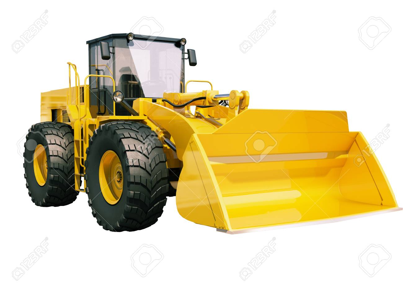 Modern front loader isolated on white background without shadow Stock Photo - 22490404