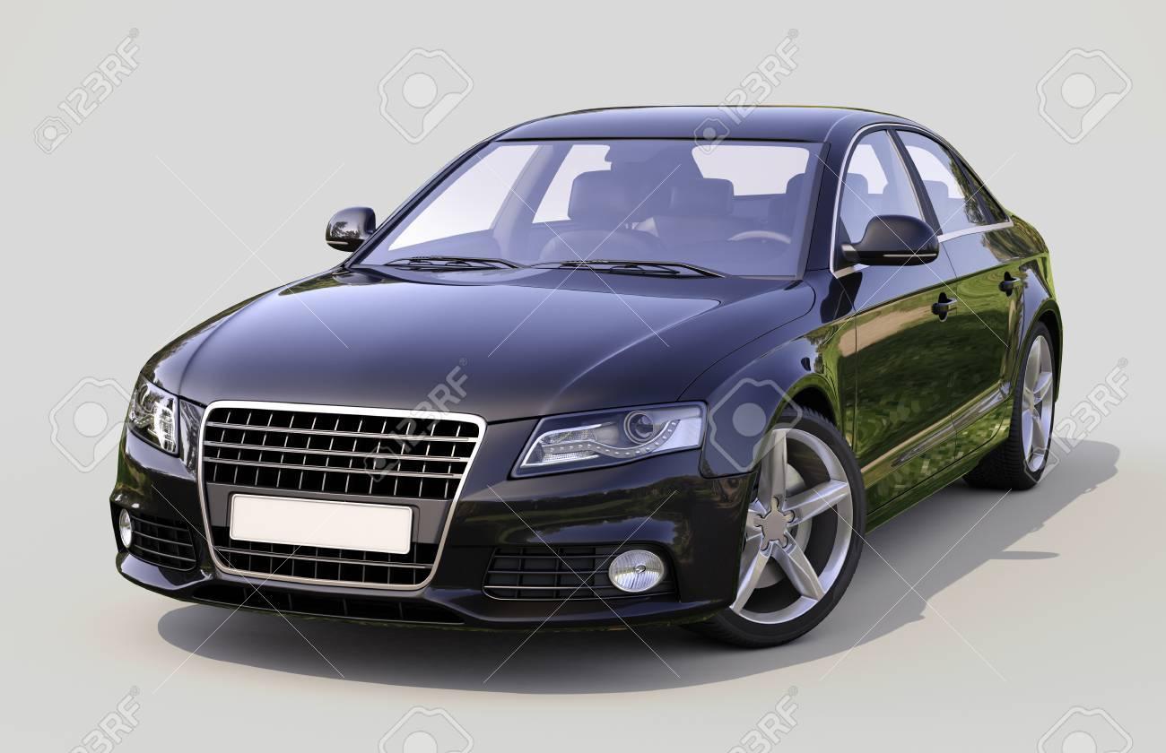 Modern luxury car on a gray background - 24405871