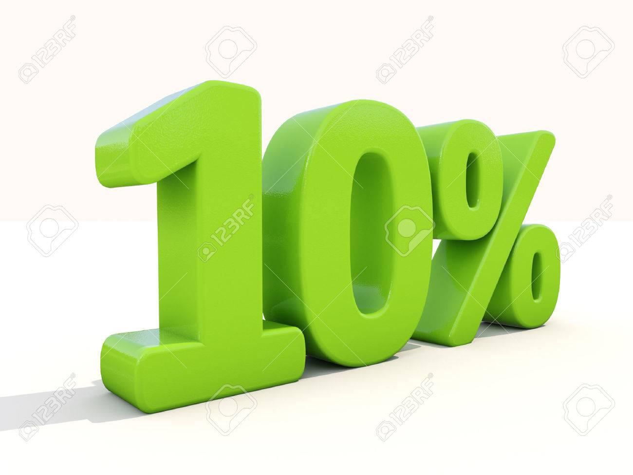 Ten percent off. Discount 10%. 3D illustration. - 26102534