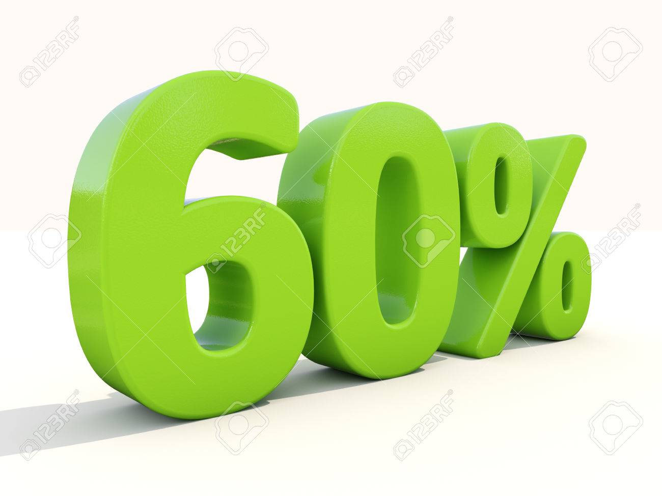 Sixty percent off. Discount 60%. 3D illustration. - 26102602