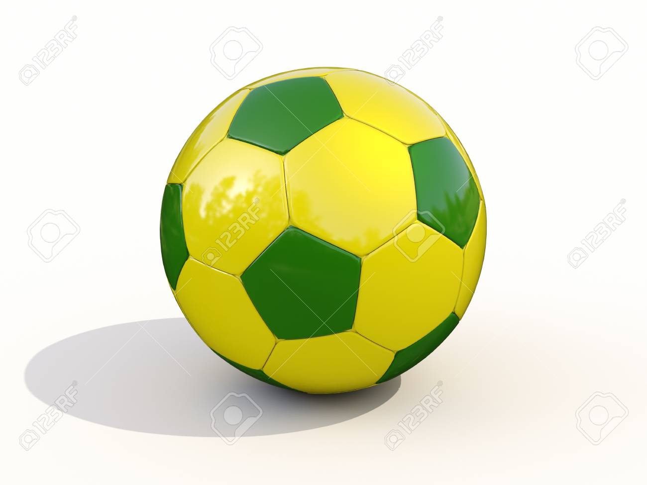 9a520d7a6 Brazilian Soccer Ball On White Background Stock Photo, Picture And ...