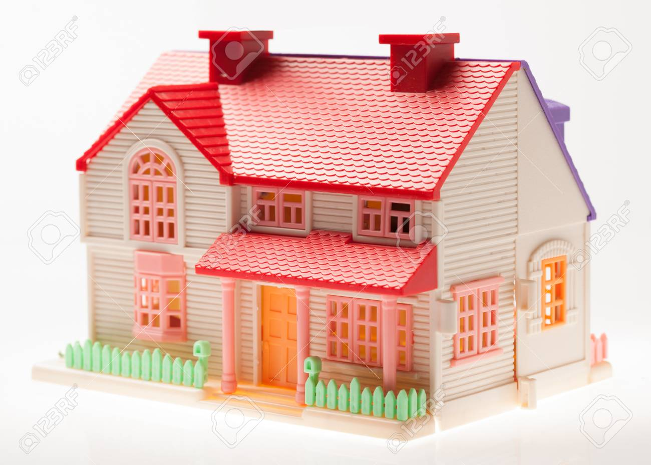 Dollhouse Close Up On A Light Background Stock Photo Picture And