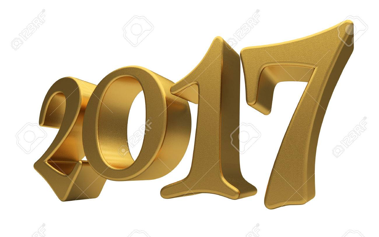New 2017 Year 3d Text On White Background Stock Photo, Picture And ...