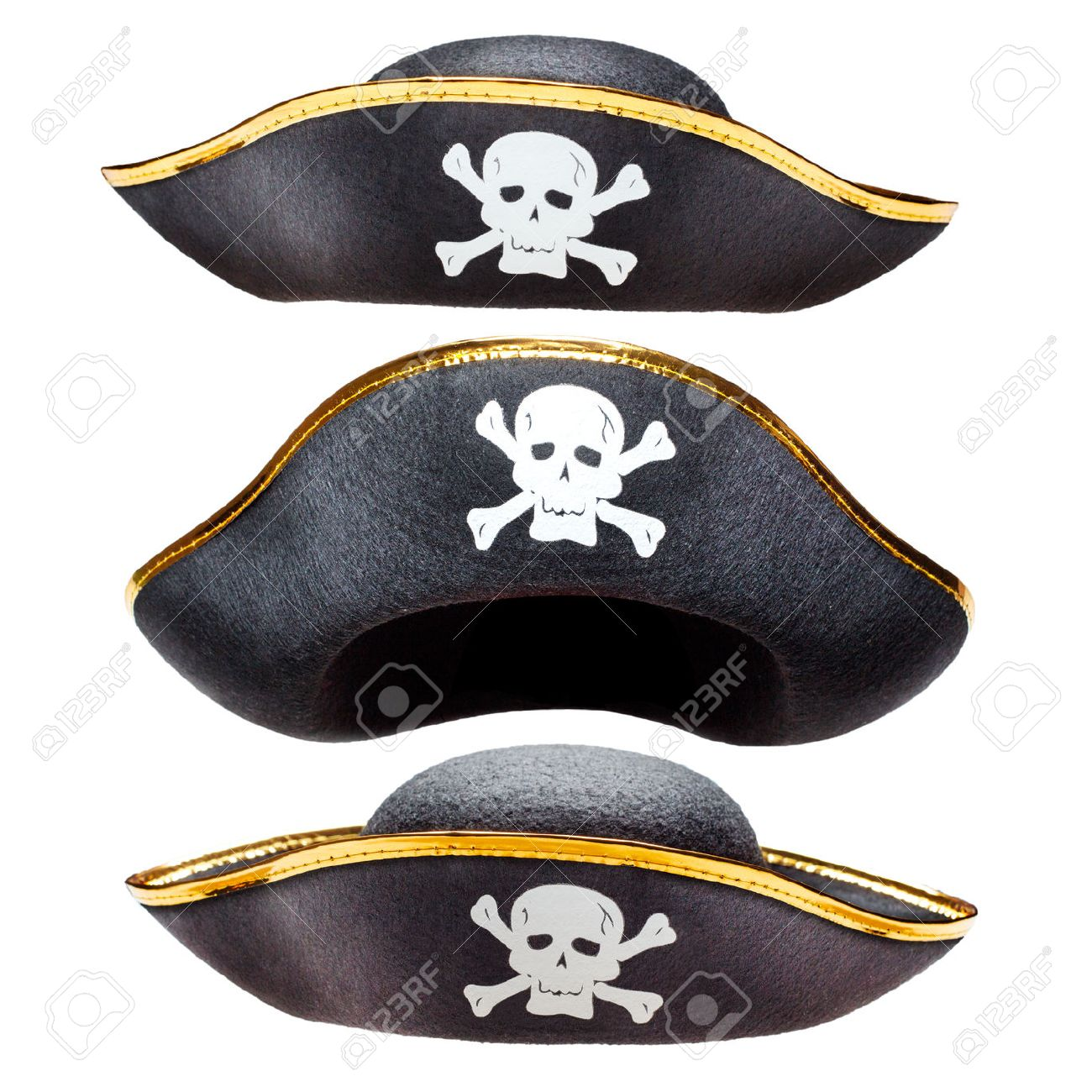 Pirate fancy dress hat with Jolly Roger - 46480464