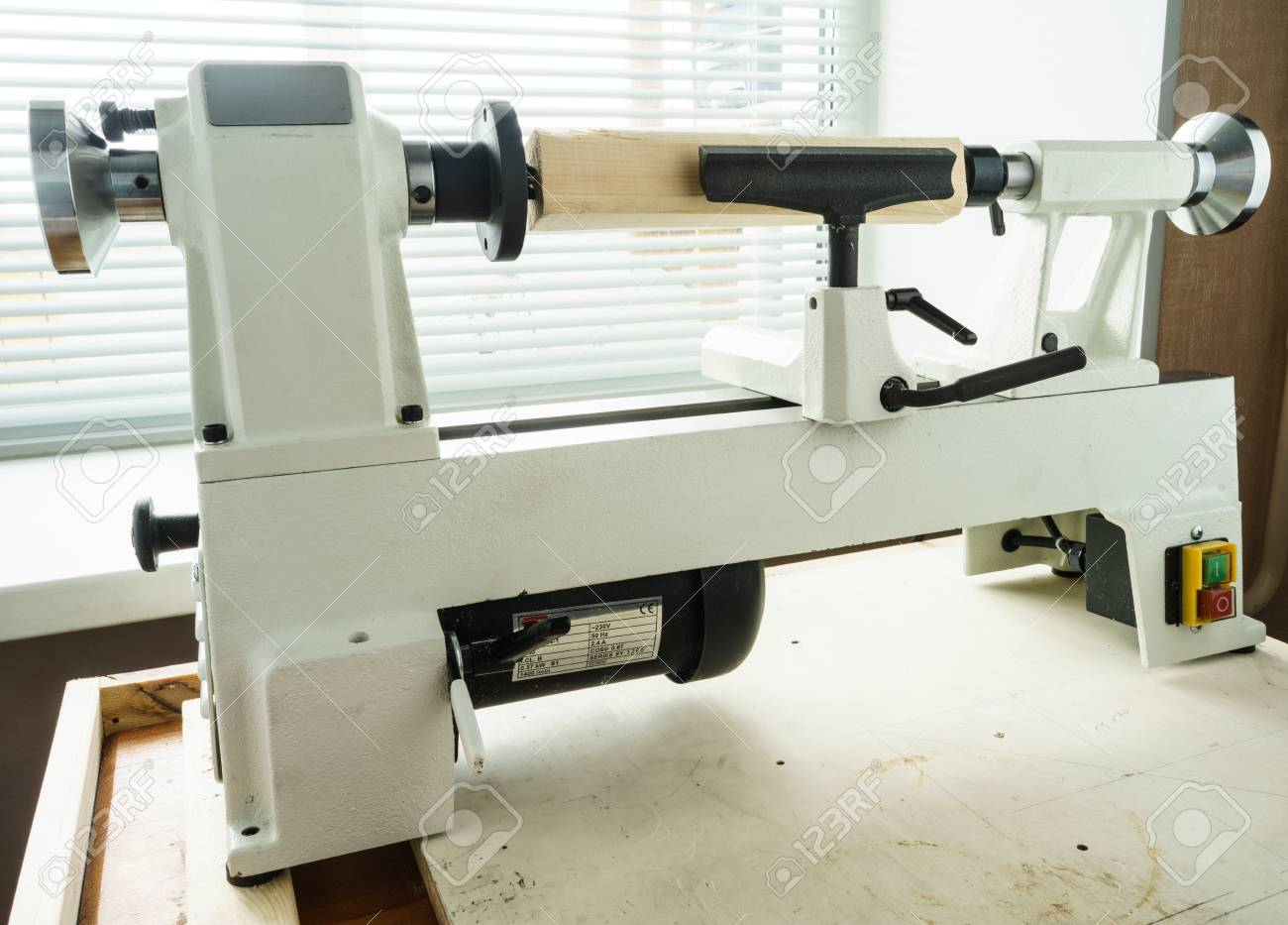 Woodworking Machine Mini Woodworking Lathe Close Up Detail Stock