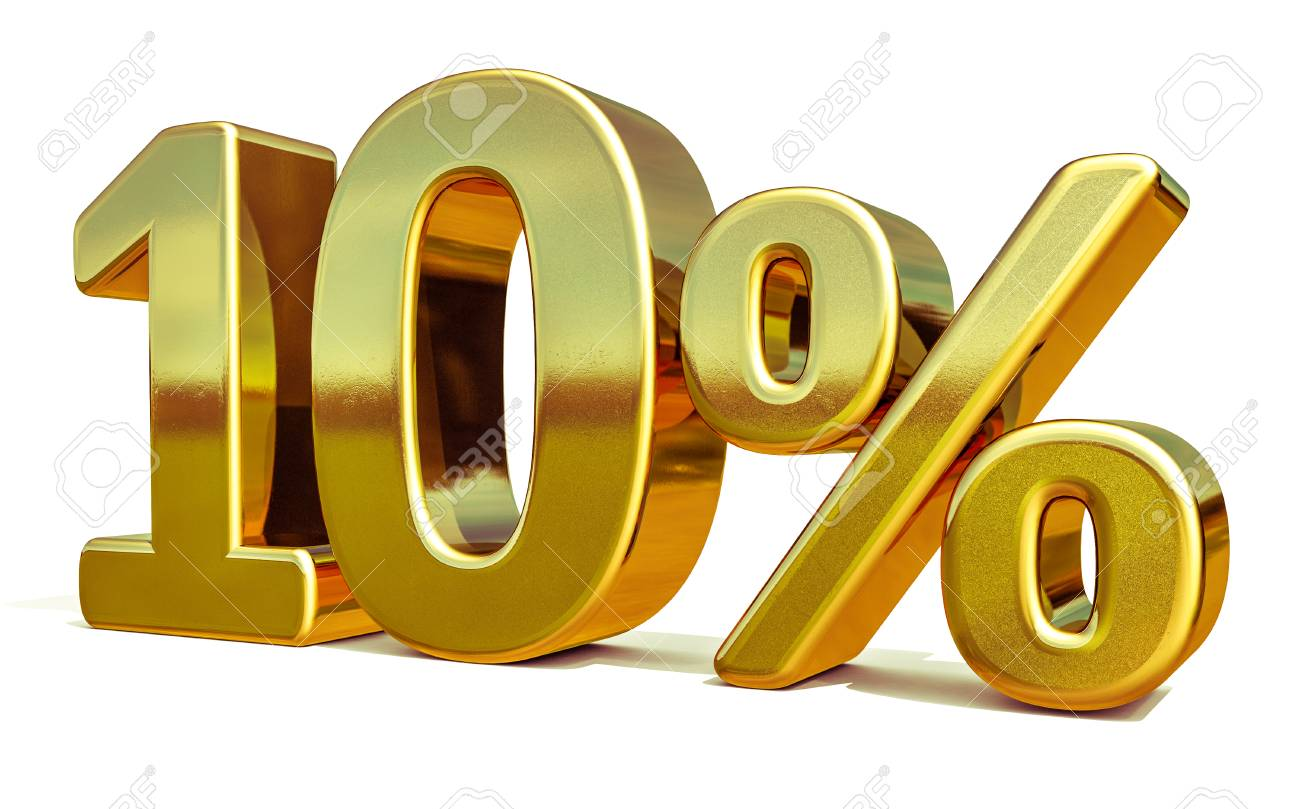 Gold 10 Percent Off Discount Sign, Sale Banner Template, Special Offer 10% Off Discount Tag, Ten Percentages Up Sticker, Gold Sale Symbol, Gold Sticker, Banner, Advertising, Gold Sale 10% - 71469248