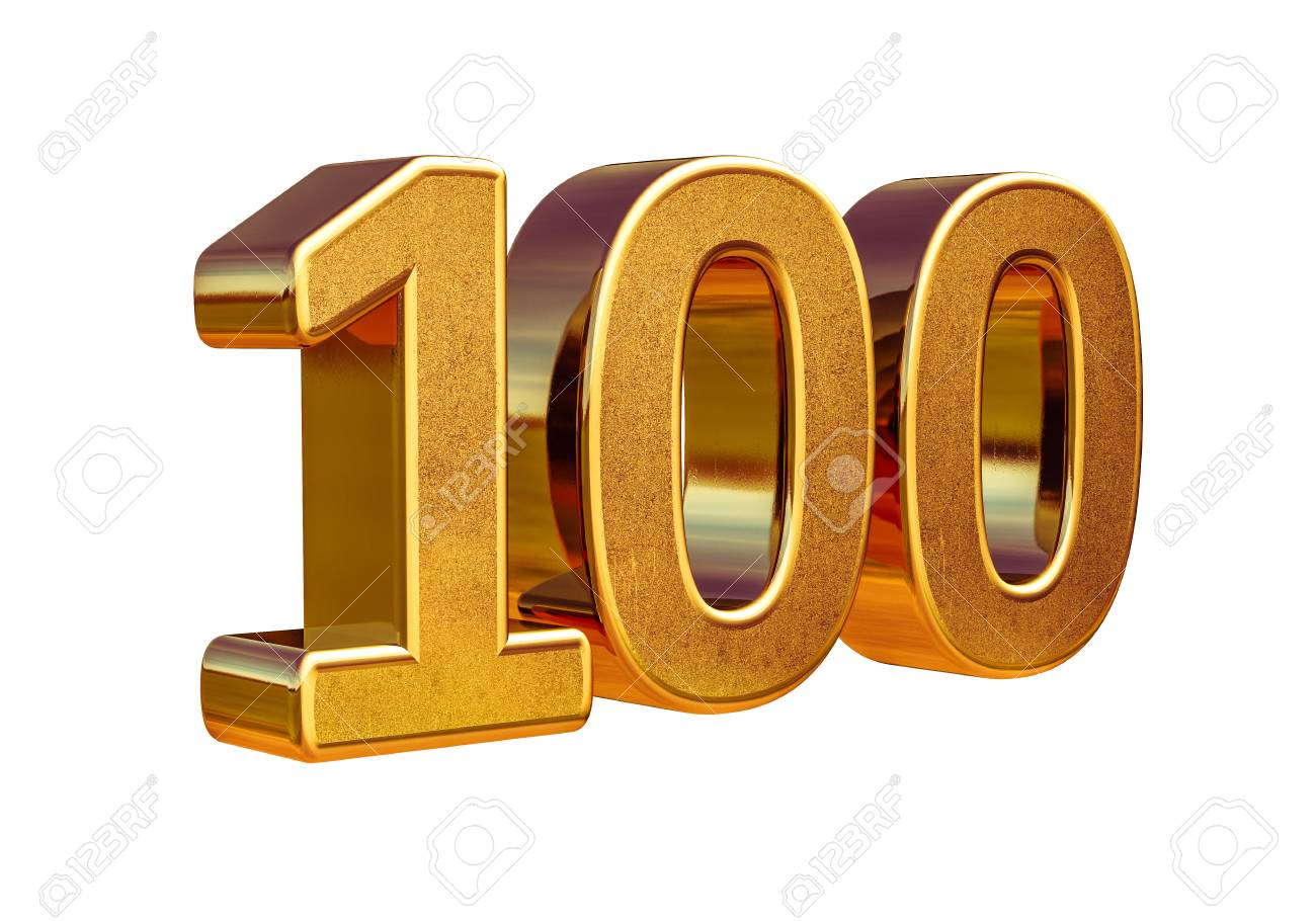 100th Anniversary, 100th birthday, 100 years, Number One Hundred Gold, Numeral 100, 100 Greeting Card, 100th Number, Numeral 100, 100 Years Anniversary Gold Sign, Number Hundred, Anniversary Banner - 73817677