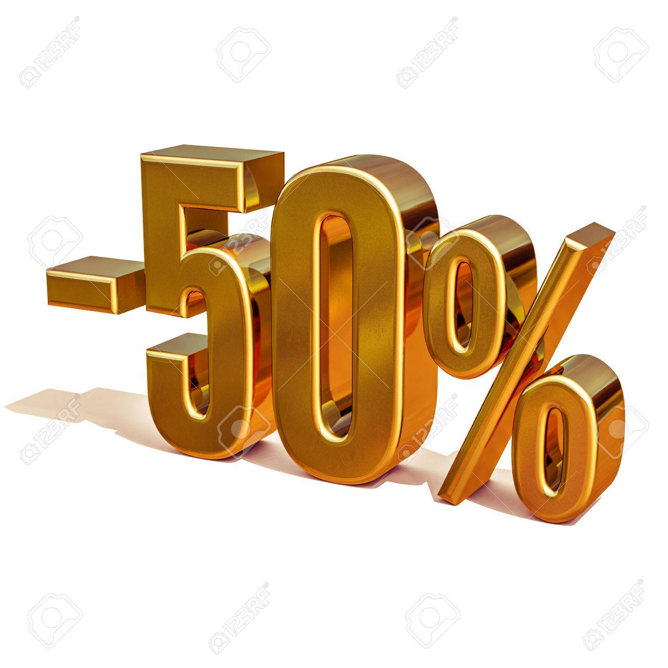 Gold Sale 50 Gold Percent Off Discount Sign Sale Banner Template