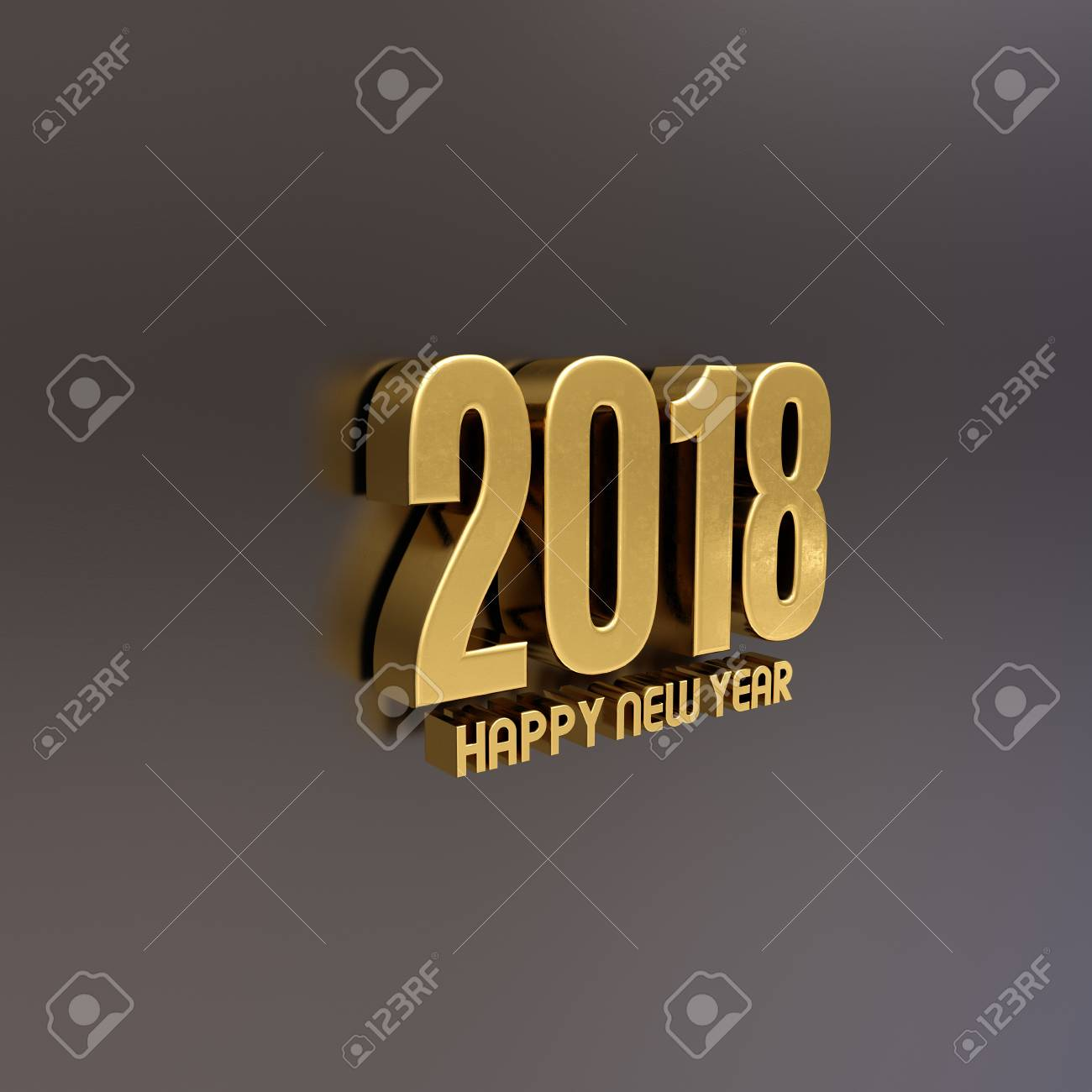 Gold happy new year 2018 text design 3d illustration golden stock gold happy new year 2018 text design 3d illustration golden 2018 happy new year festive m4hsunfo