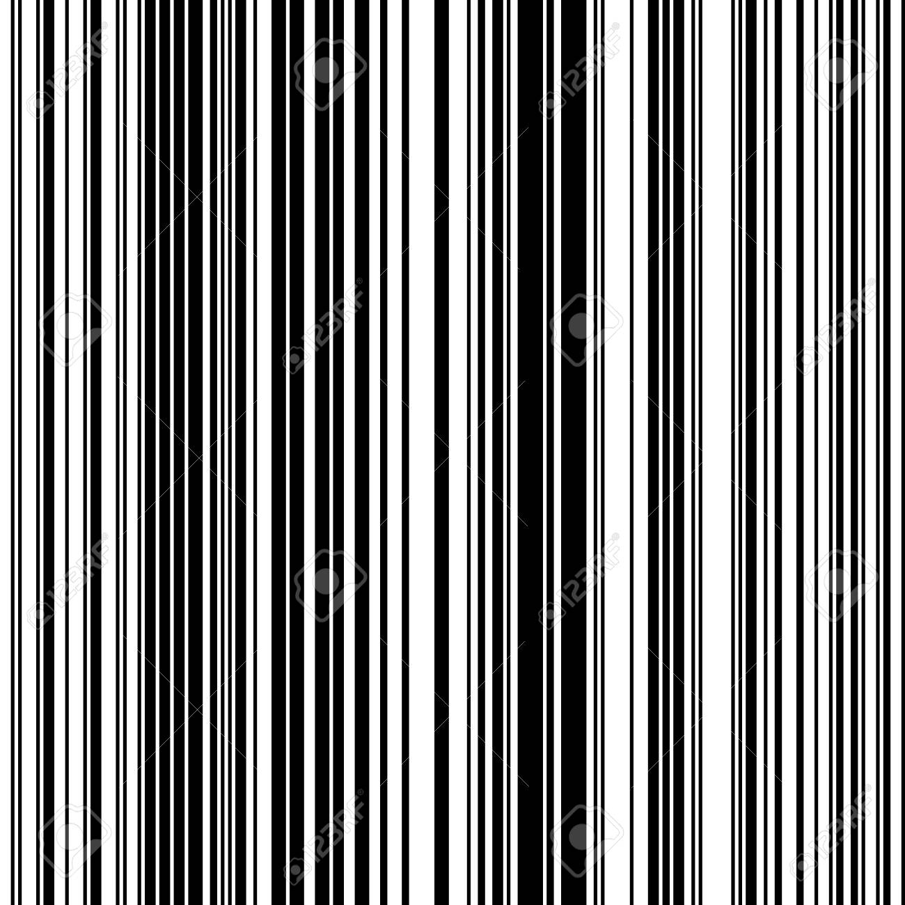 黒し、白がまっすぐ垂直可変幅ストライプ、白黒ライン パターン ...