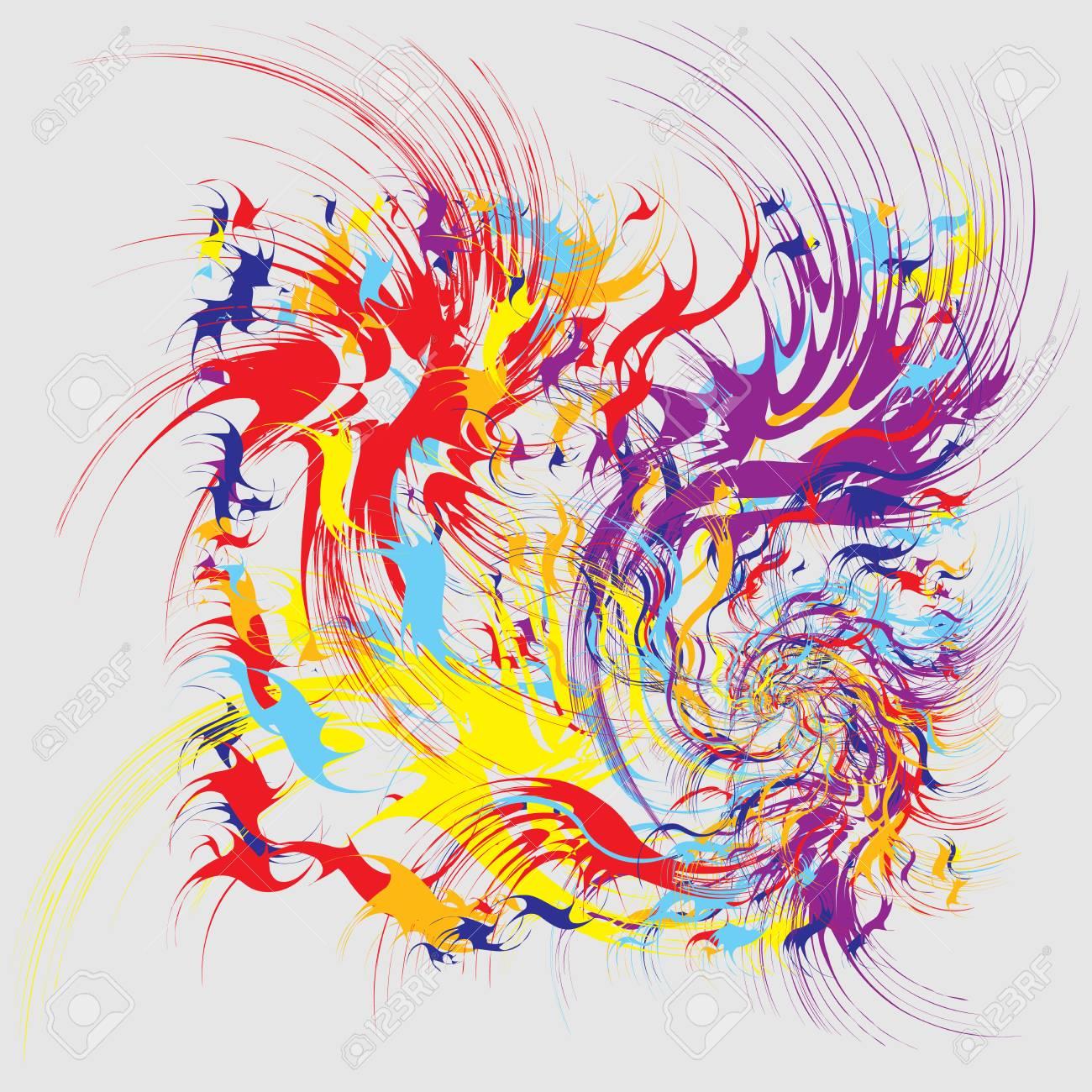 Verwonderlijk Verfspatten, Verfspatten Vormen, Mode Abstracte Kunst. Splash TN-52