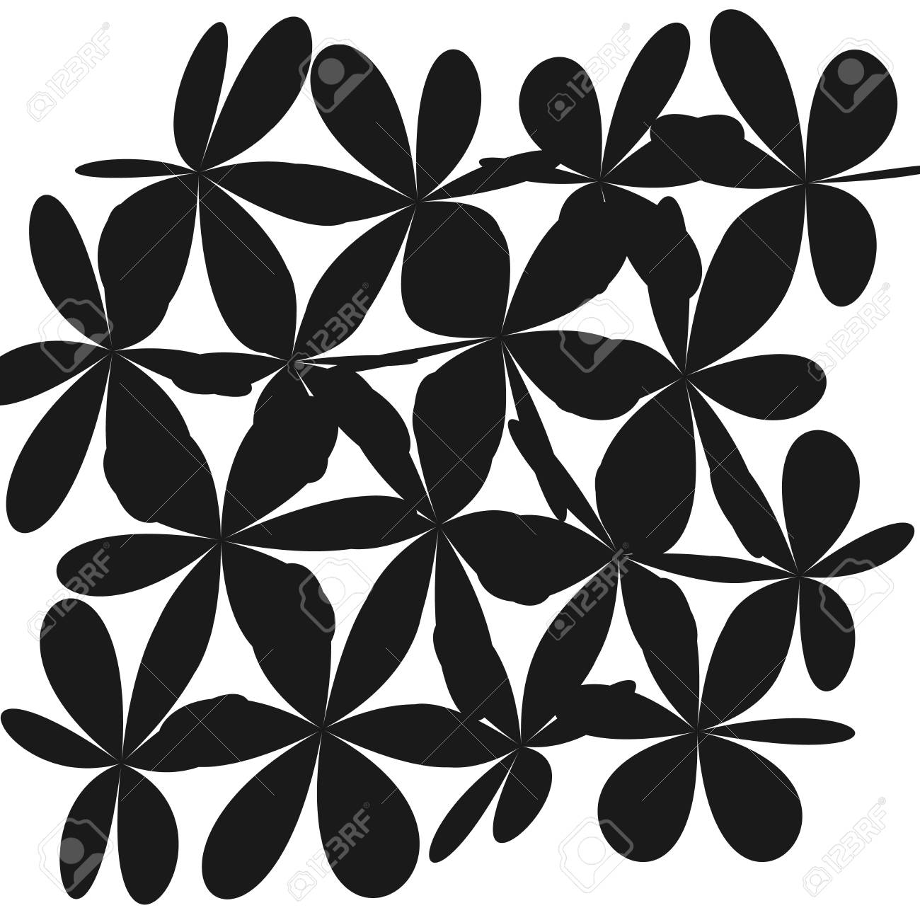 Whimsical Floral Background Flower Black And White Exquisite