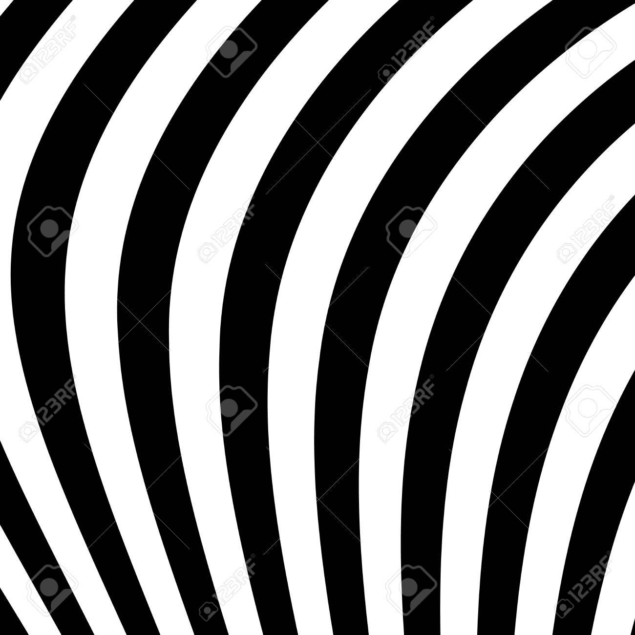 Fond Abstrait Vectoriel Des Vagues Illusion D Optique Dessin Au