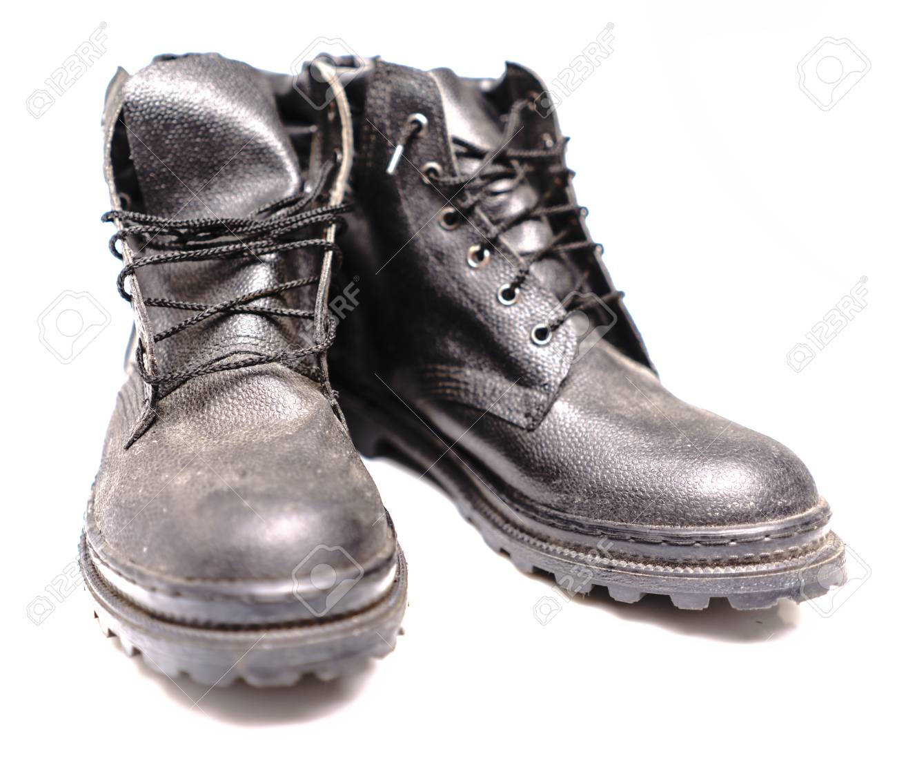 c6ced5a803b Black Safety Shoe on White Background, Safety Shoes for Workers..