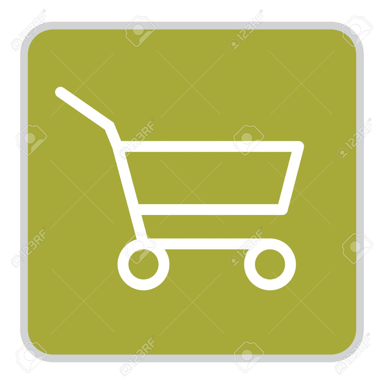 Grocery Supermarket Trolley Cart Vector Icon, EmptyShopping Cartfor Buyer,Consumerism Concept Sign, Fewer Shopping Cause Consumer Behavior Online Shopping Effect,Business Shrink - 140087502