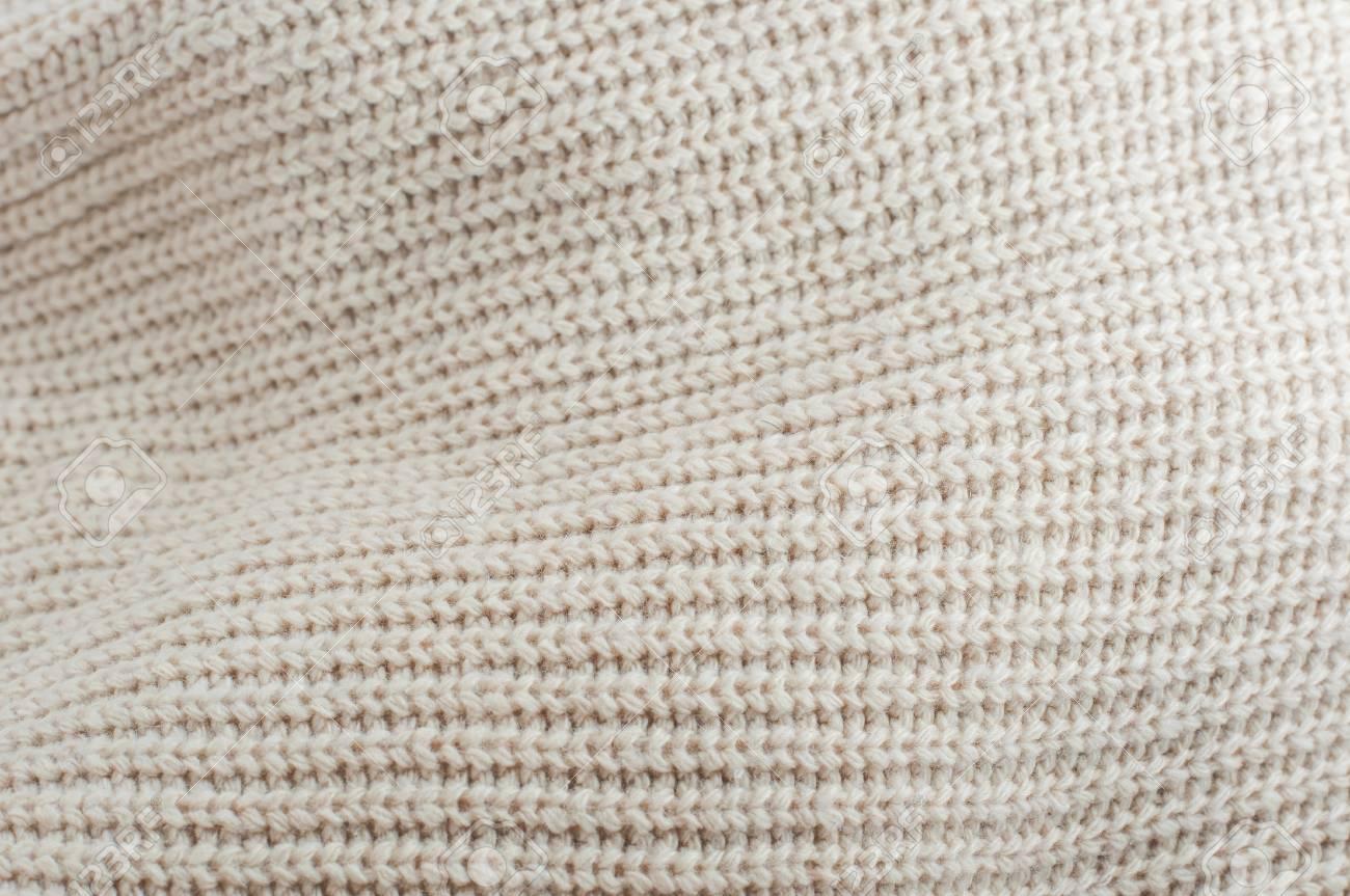 Knit brown yarn ruffle wrinkle texture