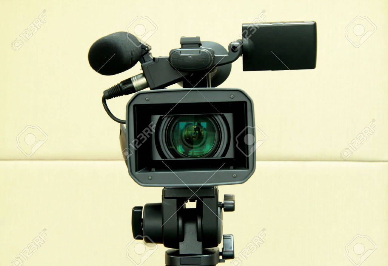 Video camera for filming TV shows. Stock Photo - 9330008