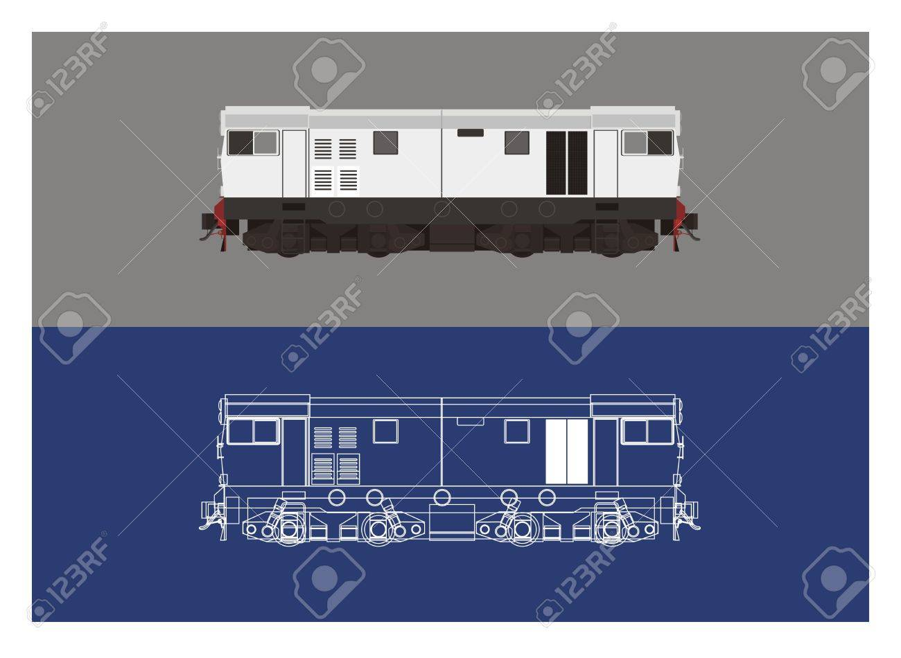 Locomotive in technical drawing art royalty free cliparts vectors locomotive in technical drawing art stock vector 46804912 malvernweather Gallery
