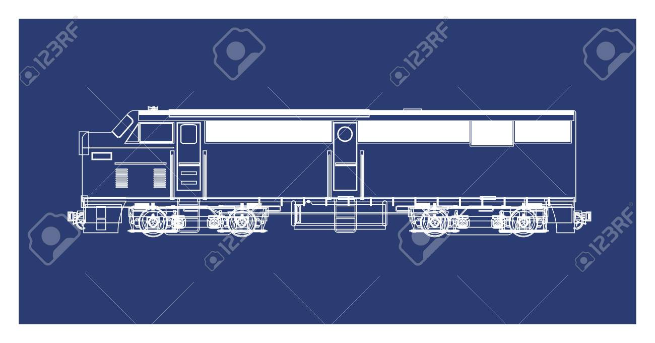 Blue print art locomotive royalty free cliparts vectors and stock blue print art locomotive stock vector 47046487 malvernweather Gallery