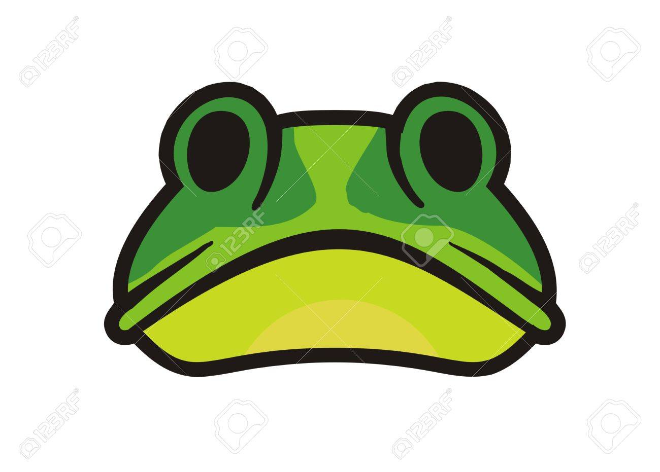 frog face simple illustration royalty free cliparts vectors and rh 123rf com