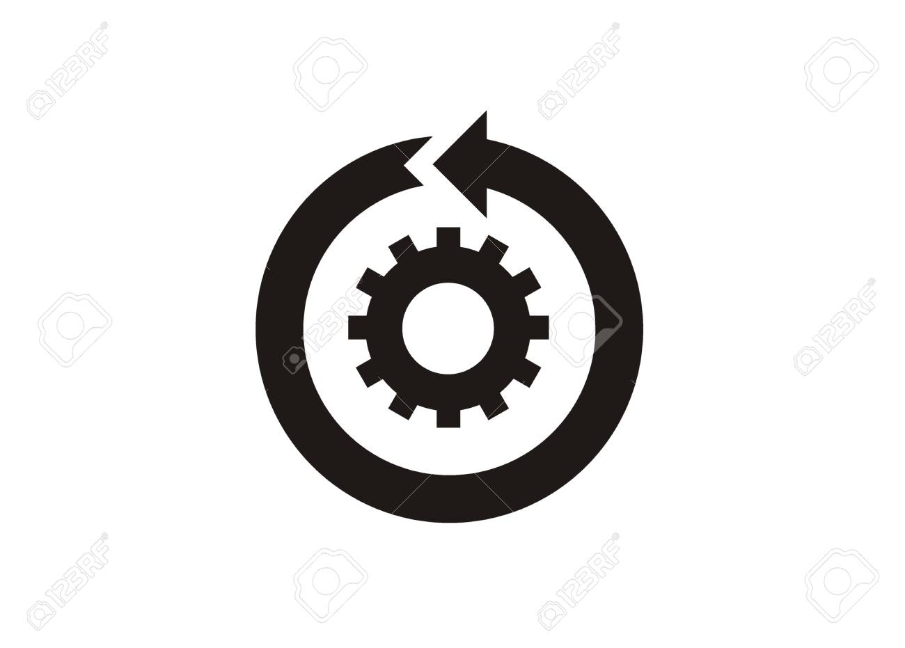 continuous improvement simple icon royalty free cliparts vectors