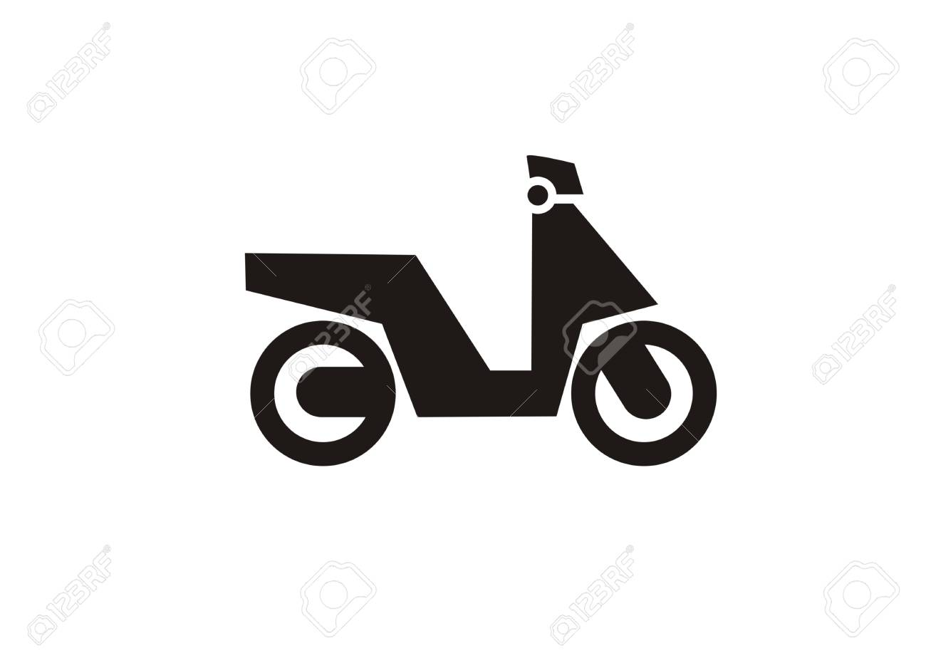 Automatic Motorcycle Simple Illustration Royalty Free Cliparts ...