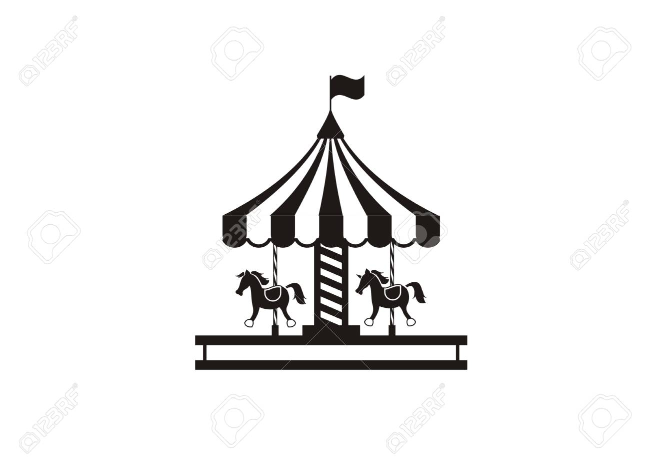 Carousel Simple Illustration Royalty Free Cliparts Vectors And Stock Illustration Image 99335071