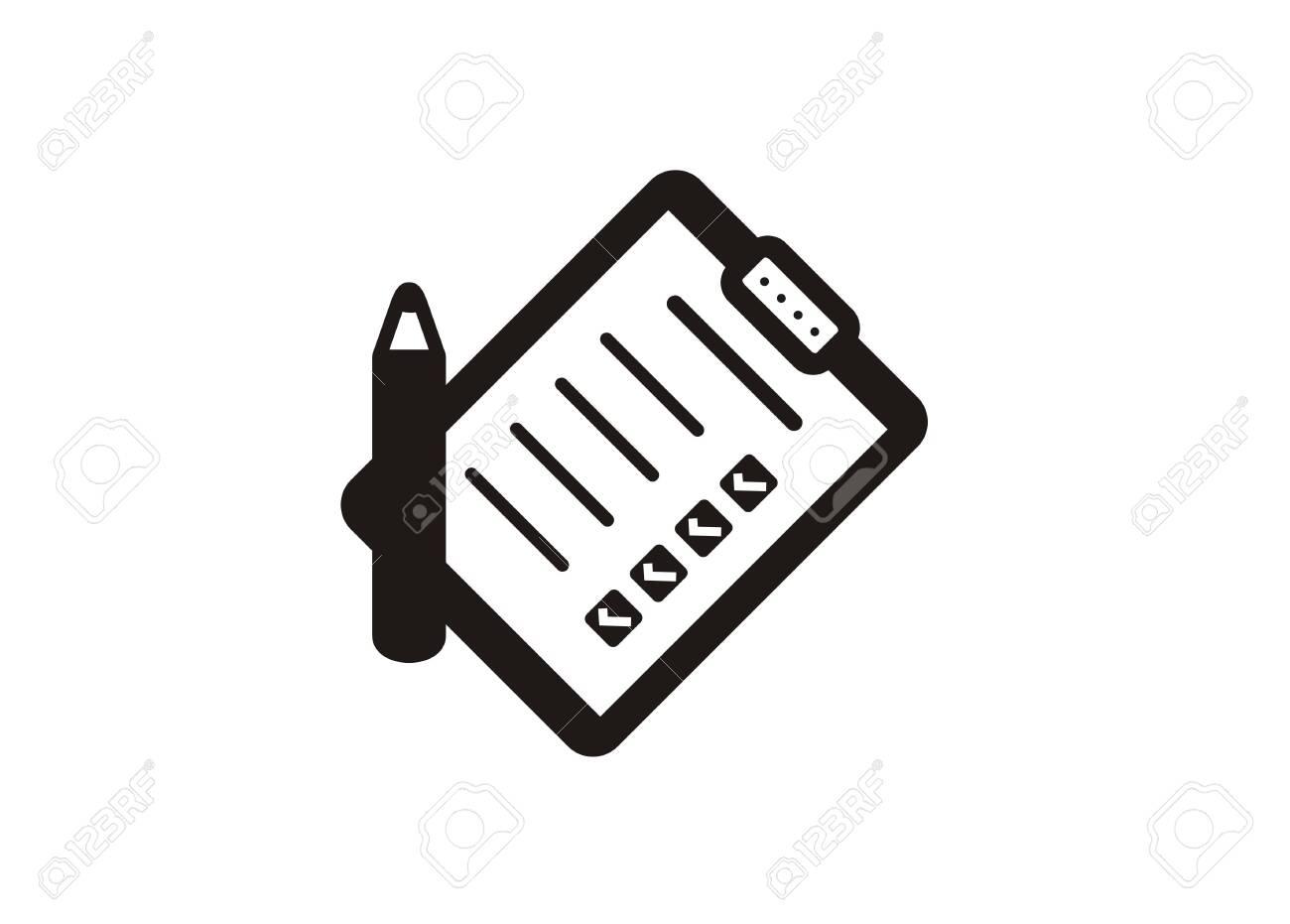 checklist paper simple icon - 119511413