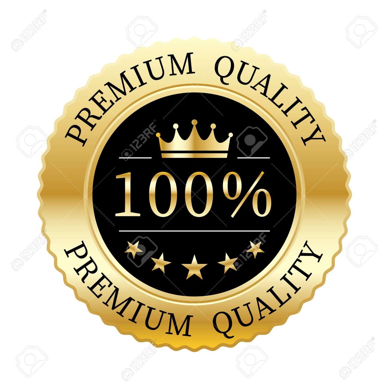 100% premium quality crown and 5 stars badge gold metallic logo - 156819020