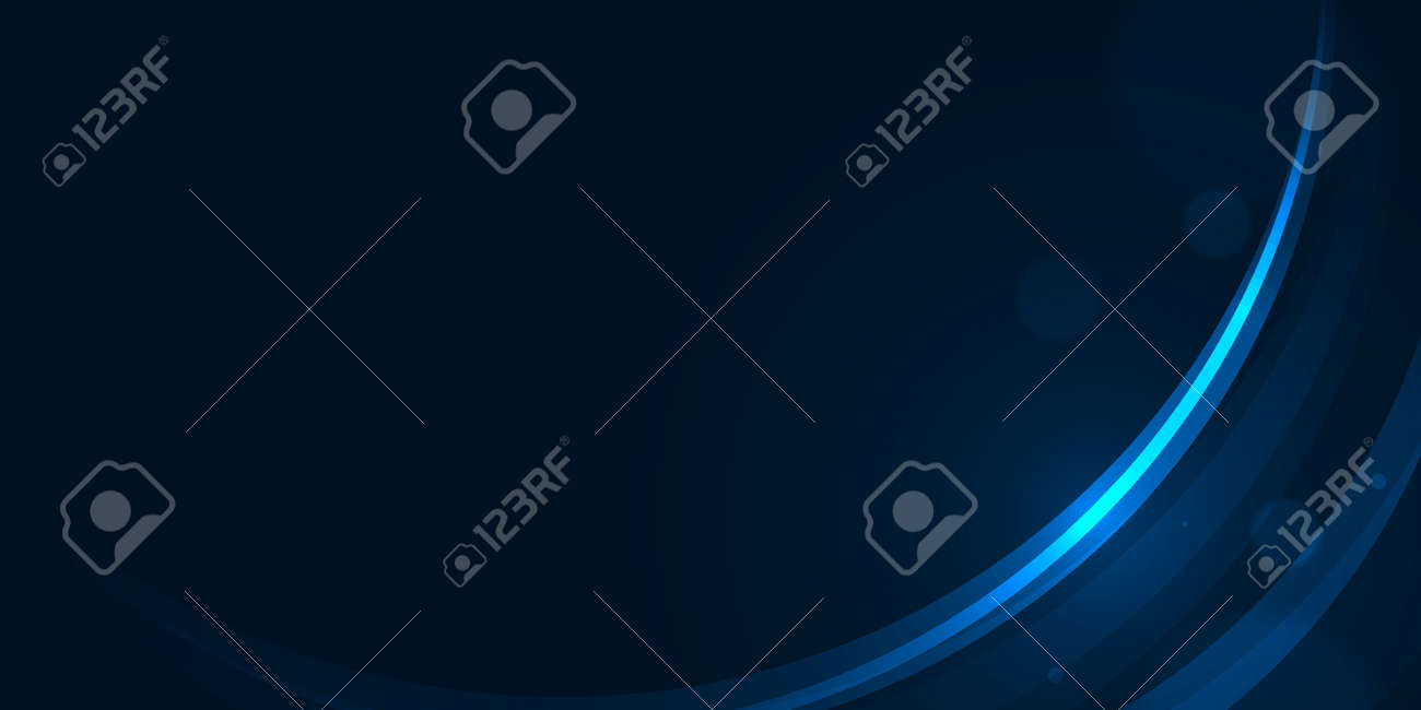 Glow curve lines on dark blue abstract background - 156867522