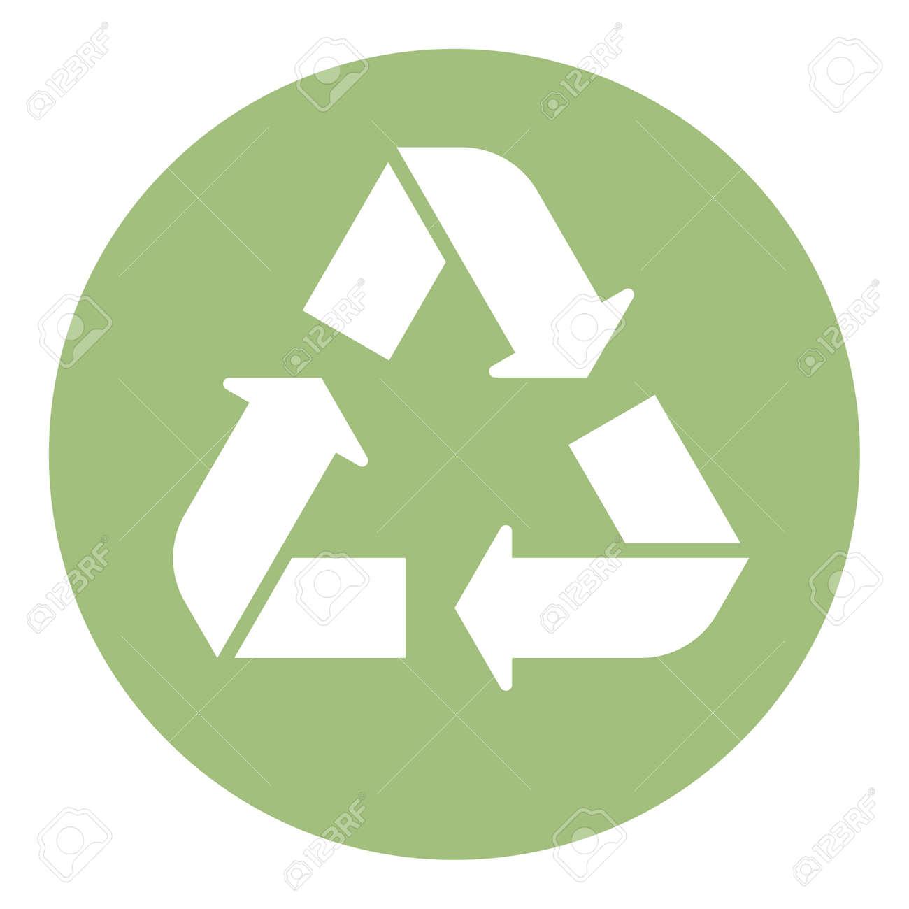 Green recycle icon minimal clean symbol design. - 156934727