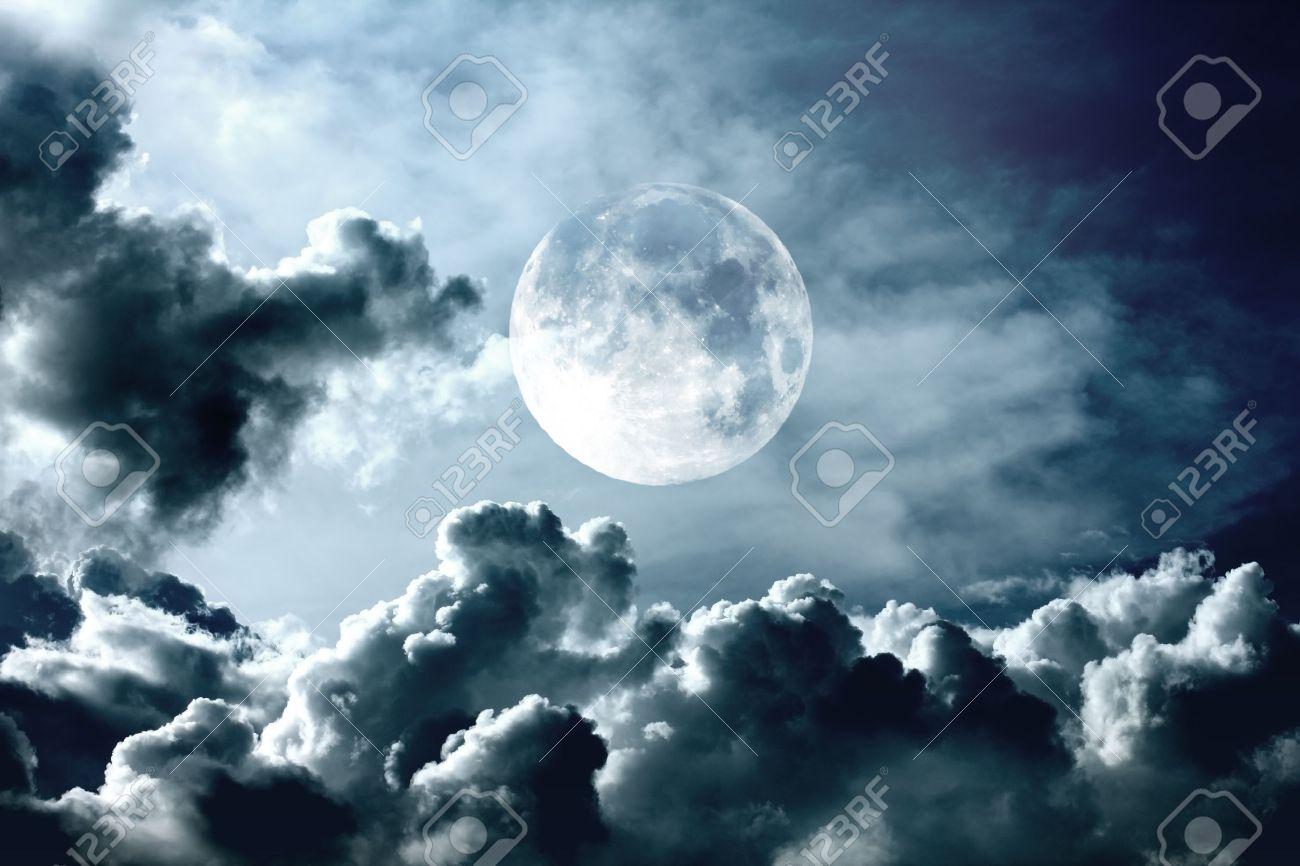 night sky with moon Stock Photo - 16373928